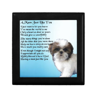 Mum Poem - Shih Tzu Design Small Square Gift Box