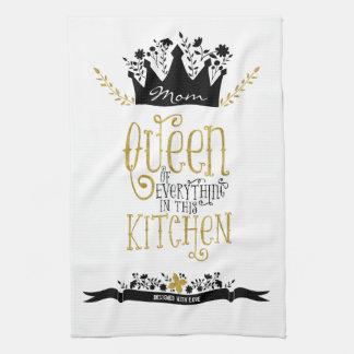 Mum - Queen of the Kitchen | Gold Glitter Tea Towel