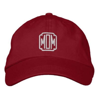 Mum Red Embroidered Baseball Cap