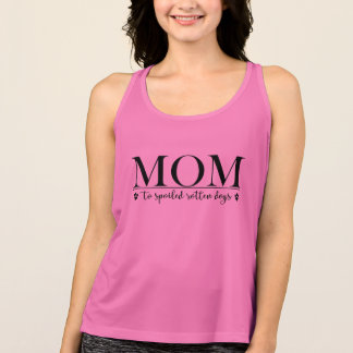 Mum to Spoiled Rotten Dogs Singlet