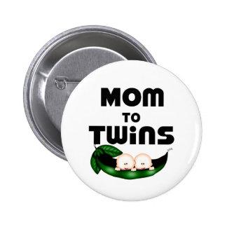Mum to Twins (Peapod) Pinback Button