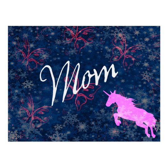 Mum Unicorn Postcard