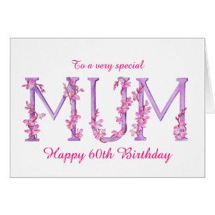 Mum birthday cards invitations zazzle mum watercolor orchid custom 60th birthday card bookmarktalkfo Image collections