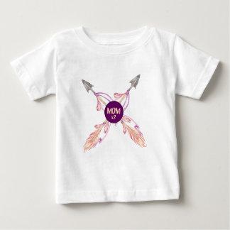 Mum x2 Feather Arrows Bohemian Baby Tshirt
