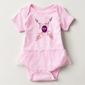 Mum x2 Feather Arrows Bohemian Baby Tutu Baby Bodysuit