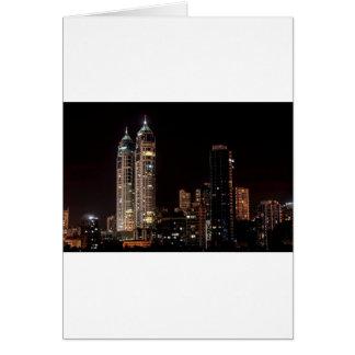 Mumbai India Skyline Card