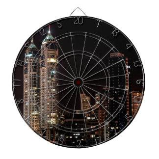 Mumbai India Skyline Dartboard