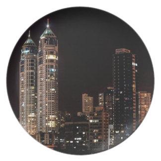 Mumbai India Skyline Plate