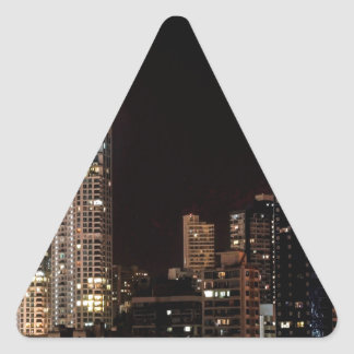 Mumbai India Skyline Triangle Sticker