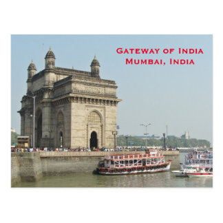 Mumbai India Vintage Tourism Travel Add Postcard