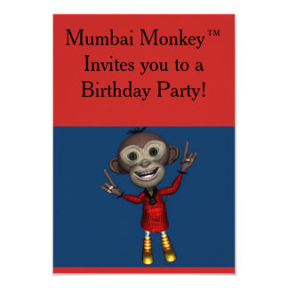 Mumbai Monkey™ Birthday Invitations for Kids