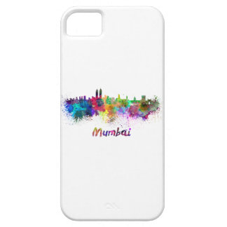 Mumbai skyline in watercolor barely there iPhone 5 case