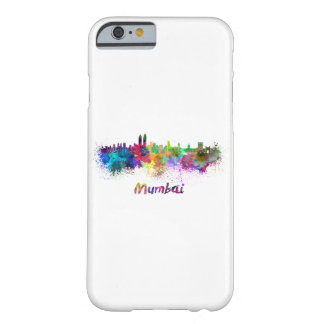 Mumbai skyline in watercolor barely there iPhone 6 case