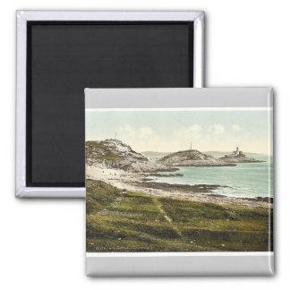 Mumbles Head Lighthouse, Mumbles, Wales rare Photo Square Magnet