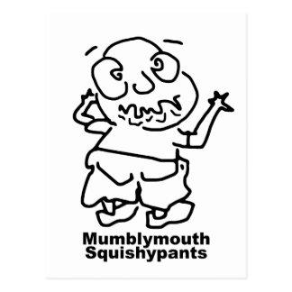 Mumblymouth Squishypants Postcard