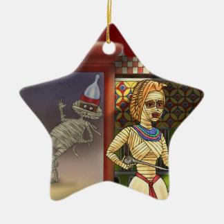 Mummific and Mrs Ceramic Star Decoration