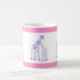 mummy and baby giraffe coffee mug