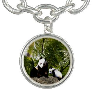 Mummy And Baby Panda, Charm Bracelet