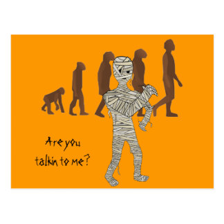 Mummy and Evolution Guys, Customize Me! Postcard