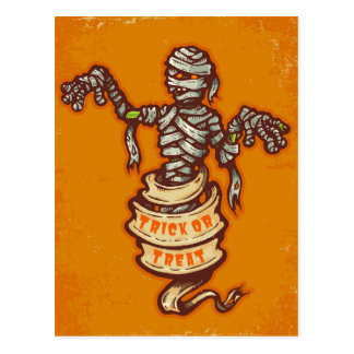 Mummy and old ribbon for Halloween Postcard