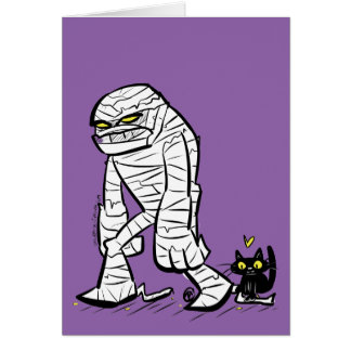 Mummy and the Cat Card