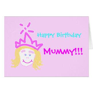 Mummy from Princess birthday card & verse