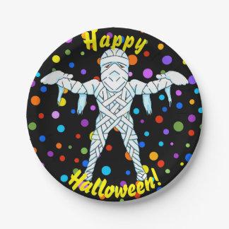 Mummy Halloween Paper Plates