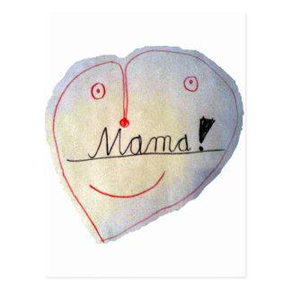 Mummy heart postcard