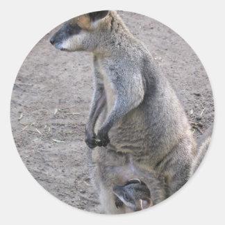 Mummy Kangaroo Stickers