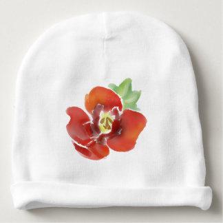 Mummy little poppy flower, original watercolour baby beanie