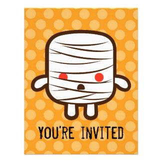 Mummy marshmallow custom invitation
