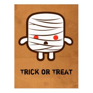 Mummy marshmallow postcard