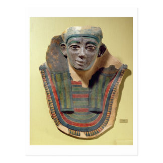Mummy mask, from Mirgissa (stuccoed and painted pl Postcard
