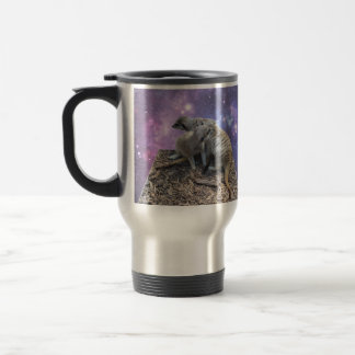 Mummy Meerkat And Her Pup, Travel Mug