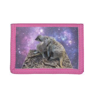 Mummy Meerkat And Her Pup, Tri-fold Wallet