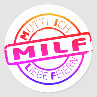 Mummy MILF celebration sticker multicolored