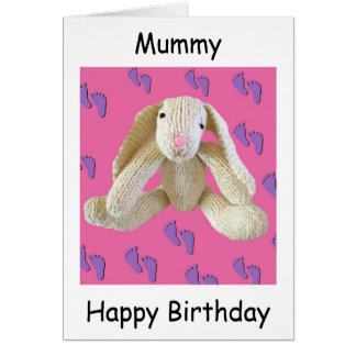 Mummy mum mam birthday card from baby child
