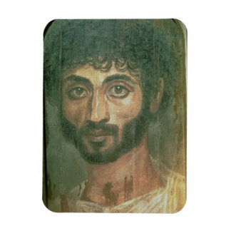 Mummy Portrait of a Man, from Fayum, Romano-Egypti Rectangular Photo Magnet
