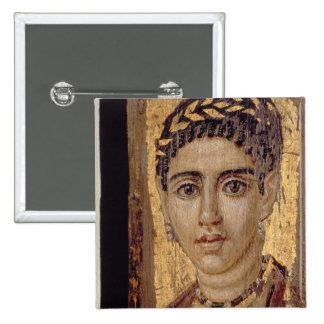 Mummy Portrait of a Woman, from Fayum, Romano-Egyp Button
