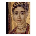 Mummy Portrait of a Woman, from Fayum, Romano-Egyp Postcard
