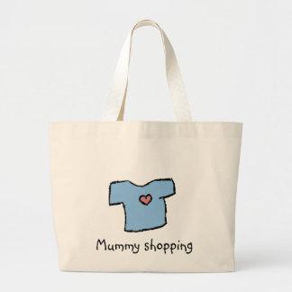 Mummy shopping - baby boy shirt with heart jumbo tote bag