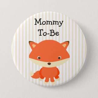 Mummy To Be Button Woodlands Theme