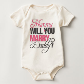 MUMMY WILL YOU MARRY DADDY? ROMPER