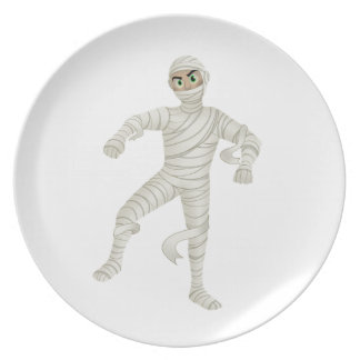 Mummy with Green Eyes Plate