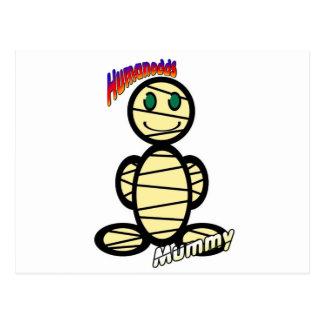 Mummy (with logos) postcard