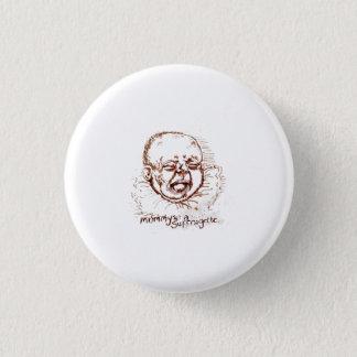 Mummy's a Suffragette illustration badge