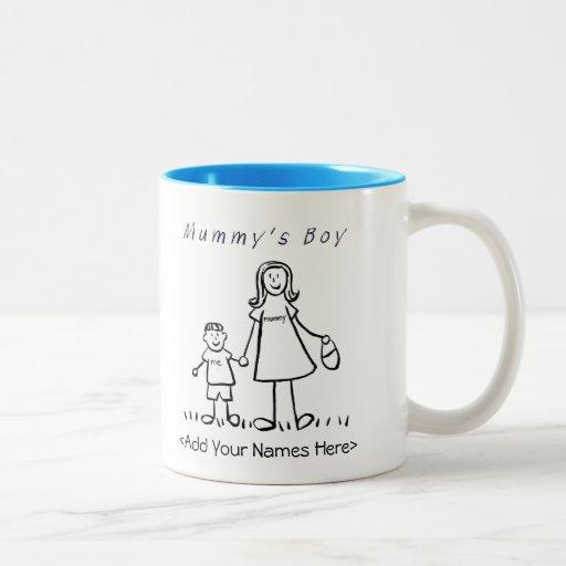 mummy 39 s boy mother son custom gift mug zazzle. Black Bedroom Furniture Sets. Home Design Ideas