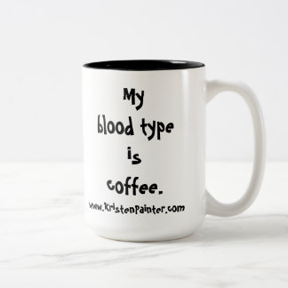 Mummy's Diner mug - blood type