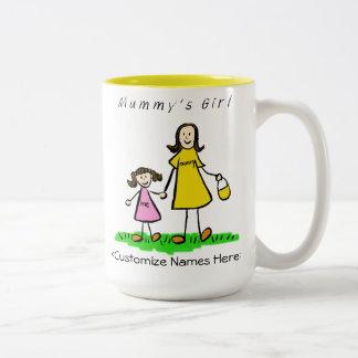 Mummy's Girl - Brunette Mother & Daughter Mug