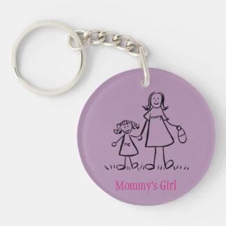 Mummy's Girl Family Art Characters Custom Keychain